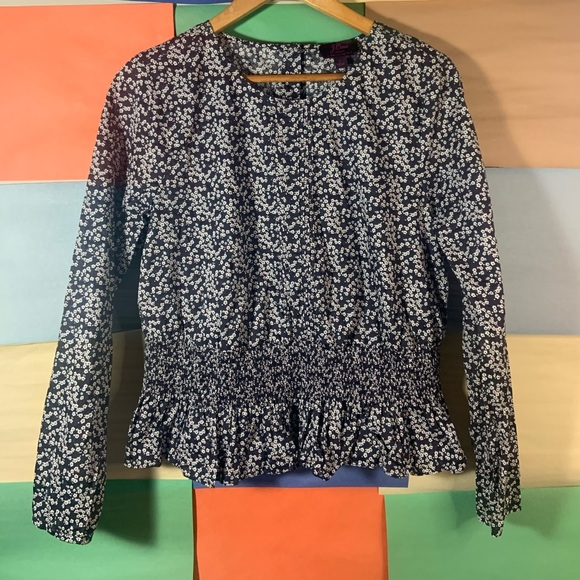 J.Crew Liberty Fabric Floral Design Top size L